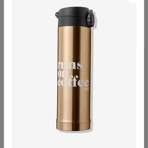 NWT!!  VS PINK gold thermos!